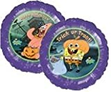 "Single Source Party Supplies - 18"" Spongebob Squarepants Happy Halloween Mylar Foil Balloon"