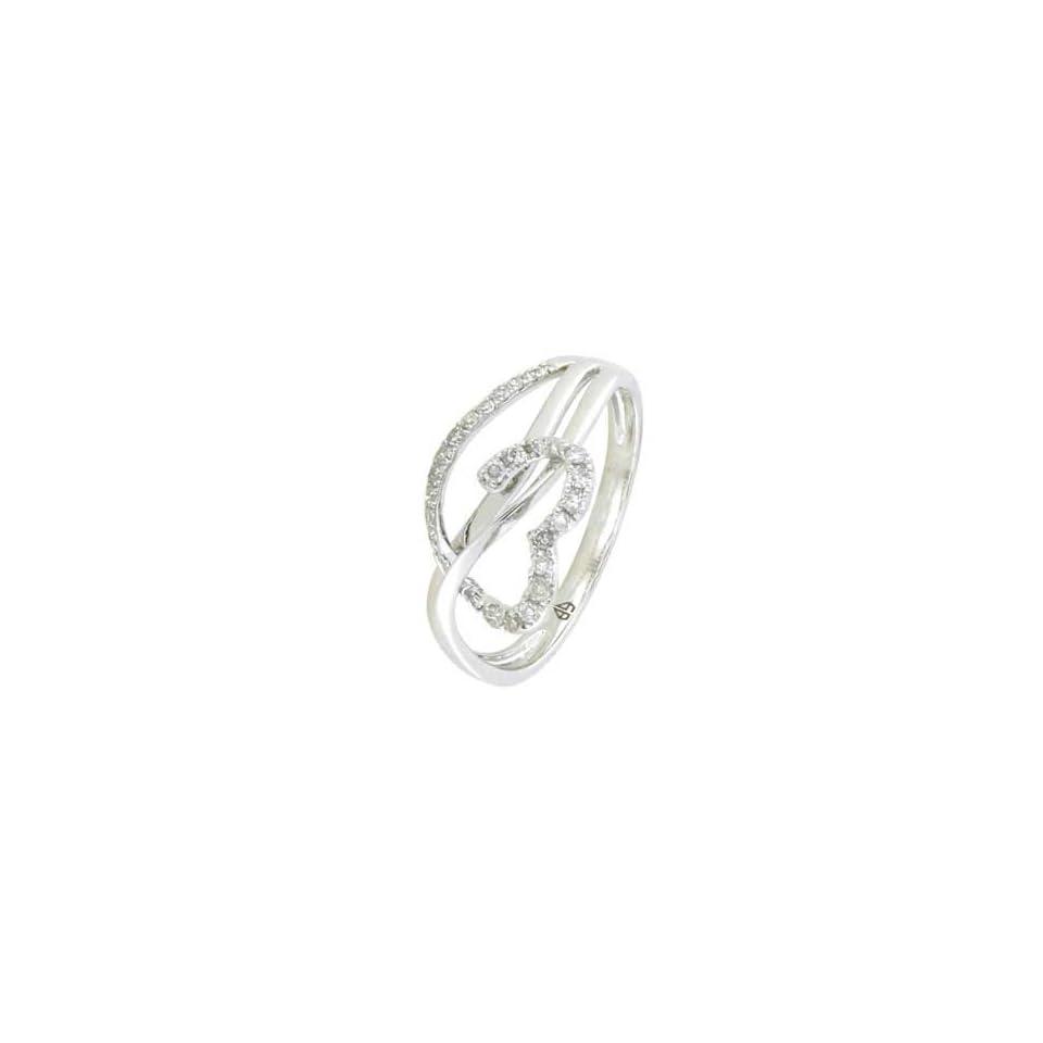 14K White Gold Diamond Ring Diamond quality AA (I1 I2 clarity, G I color)