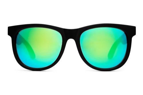 [クラップ] Crap EyeWear ヌーディーマグ サングラス 男女兼用 [並行輸入品] (Flat Black w/ Green Reflective Lenses)