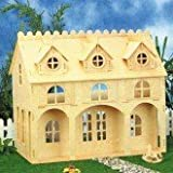 Dolls House Cottage Kit with Dormer Windows Tab & Slot construction 1/12 scale Age 5+