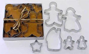 Gingerbread Cookie Cutter Set - 6 pcs