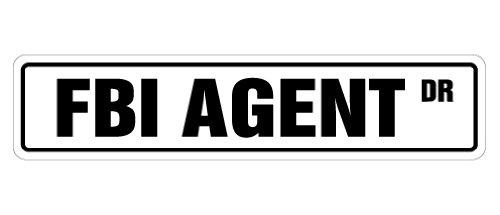 FBI AGENT Street Signnew files cia secret police gift novelty street sign