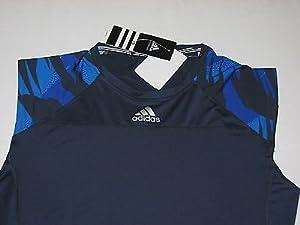 Adidas Mens Climacool Compression Camo Training Shirt Top Navy 2XL