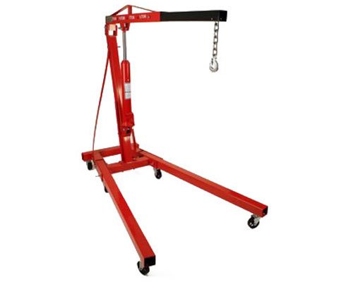 Best Prices! 2 Ton Foldable Engine Hoist Cherry Picker Crane Lift w/ 8 Ton Hydraulic Ram