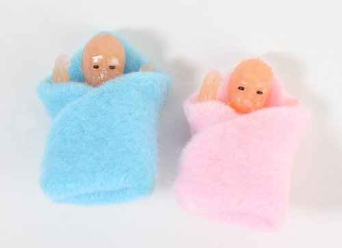 Small-Miniature-Baby-Twins-Swaddled-in-Soft-Fleece-Blankets-for-Dollhouses-and-Miniature-Displays