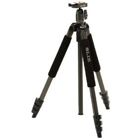 Slik Professional Universal Deluxe Tripod with 3-Way Panhead and Panoramic Photo Guide
