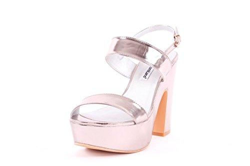 FRANCESCO MILANO sandalo donna con plateau, tacco alto (38)