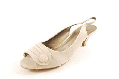 Karen Scott Womens Austen Peep Toe Slingbacks Sandals Taupe 11 M Us