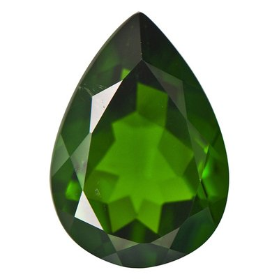 0.65 Cts of 7x5 mm AA Pear Chrome Diopside (