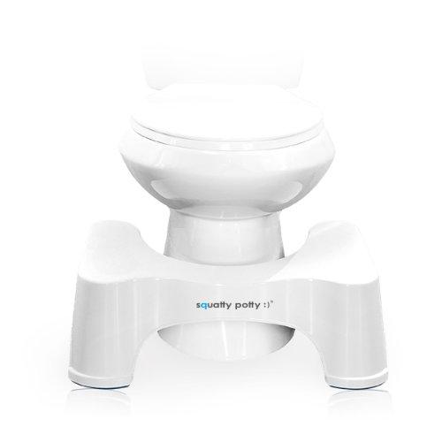 Squatty Potty The Original Bathroom Toilet Stool, White, 9