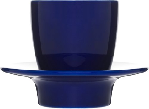 Sagaform 5015917 Blue Espresso Cup With Saucer/Lid, 3-1/2-Ounce