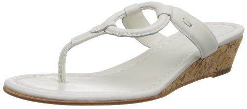 White Wedge Flip Flops
