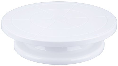 Turntable Decorating Cake Stand - Cake Pastry Cupcake Decorative Round Display Stand - White - 11.3 X 11.1 X 3 inches (Revolving Pedestal compare prices)