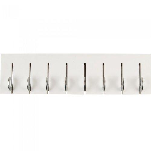 Leitmotiv Coat Rack Hook Light White with Chrome Hooks
