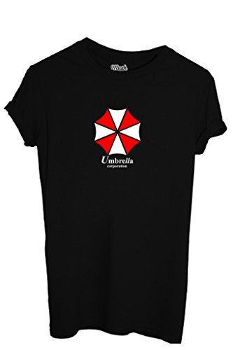 T-Shirt UMBRELLA CORPORATION RESIDENT EVIL - GAMES by iMage Dress Your Style - Uomo-L-NERA