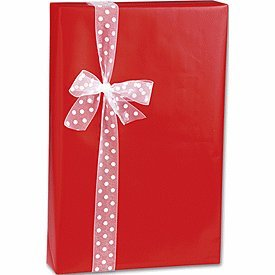 "Red Ultra Gloss Wrapping Paper 24"" x 100'"