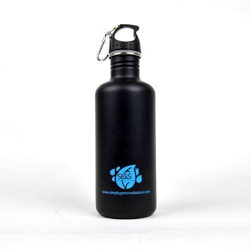 Stainless Steel Water Bottle Canteen 40Oz. - Single Pack - Matte Black front-708278