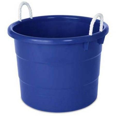 Homz 18-Gallon Kids Storage Rope Handle Tub, Set of 4, Blue (18 Gallon Storage Tubs compare prices)