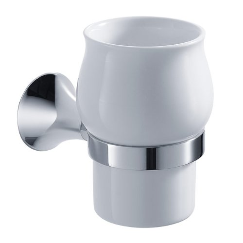 Kraus KEA-11104CH Amnis Bathroom Wall-mounted Ceramic Tumbler Holder
