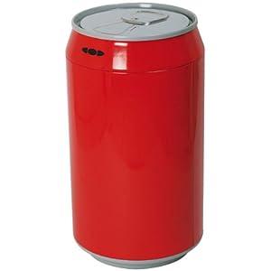 poubelle automatique canette rouge m tal aluminium 30 l. Black Bedroom Furniture Sets. Home Design Ideas