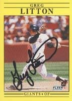 Greg Litton San Francisco Giants 1991 Fleer Autographed Hand Signed Trading Card. by Hall of Fame Memorabilia