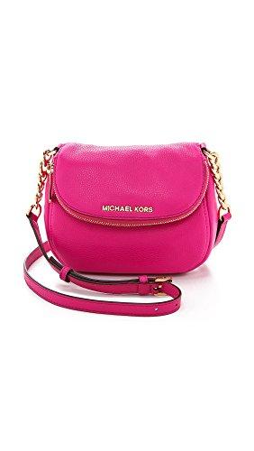 Michael Michael Kors Womens Bedford Flap Cross Body Bag, Raspberry, One Size