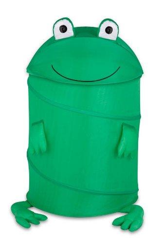 Honey-Can-Do HMP-02058 Kid's Pop-Up Hamper, Frog, Large