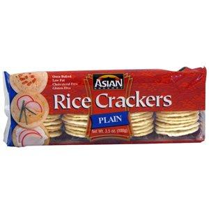 Amazon.com: Asian Gourmet Rice Crackers Plain 3.5 oz (6 pack)
