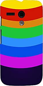 Snoogg Rainbow Colored Circles 2925 Case Cover For Motorola G