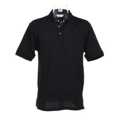 Kustom Kit Chunky® Superwash® 60c Mens Short Sleeve Polo Shirt (2XL) (Black)