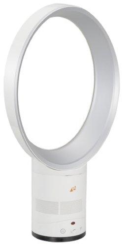 PLANEX 羽なし扇風機(首振り・上下角度調整可)たまご型ホワイト ES-AFANE-W