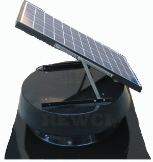 Remington Solar 25 Watt Solar-Powered Black Attic Fan