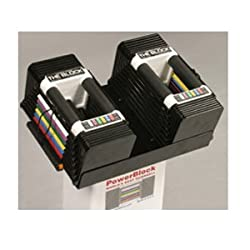 PowerBlock Personal Adjustable 5 to 45-Pounds per Dumbbell Set