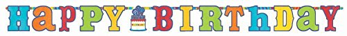 Birthday Fever Jumbo Add an Age Letter Banner - 1