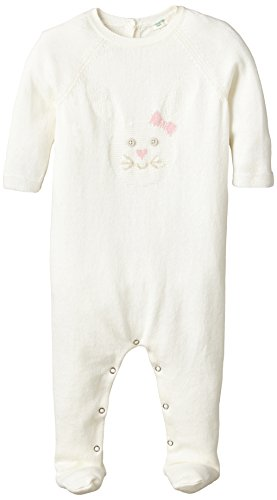 United Colors of Benetton Rabbit Knit All In One-Tuta intera Bimbo 0-24    Bianco (Cream) 6 A 9 Mesi