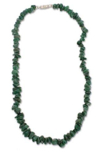 Quartz necklace, 'Forest Jewels' 18.5