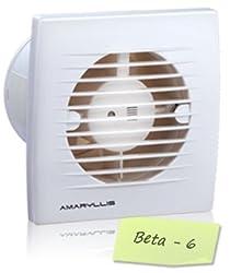 Amaryllis Bathroom Exhaust Fan 6 Inch Beta - 6 White/Ivory