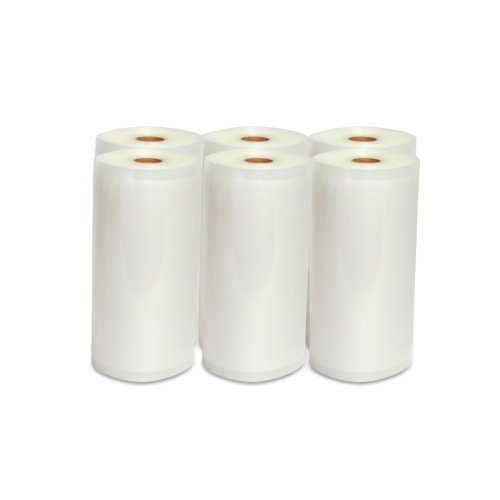 "Vacuum Sealer Rolls, Six (6), Large 8"" X 50', Commercial Grade Kitchen Storage And Seal Bags For Food Saver"