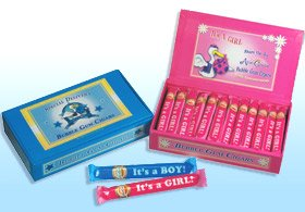 Birth Announcement Bubblegum Cigars - Pink Girl