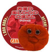 KEY CHAIN Giant Microbes MINI (Mini - Miniature in Size - 2-3 Inches) Red Blood Cell (Erythrocyte)