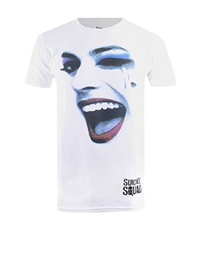 ZZZ-DC COMICS T-Shirt Manica Corta Harley Face [Bianco]