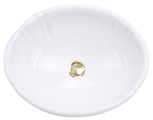 Review St. Thomas Creations 1002.000.01 Antigua Petite Oval Self-Rimming Lavatory Sink with Overflow...