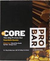 ProBar Core Protein Bar Gluten Free Peanut Butter Chocolate -- 12 Bars