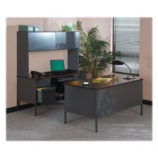 """HON Metro Classic Series 72""""x36"""" Double Ped. Desks-Double Pedestal Desk, w/Overhang,72""""x36""""x29-1/2"""", MY/CCL"""