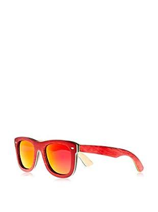 Earth Wood Gafas de Sol Wood Malibu (52 mm) Rojo