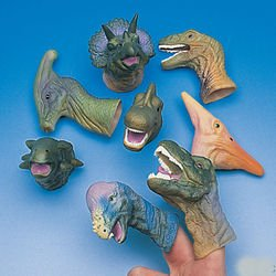 REALISTIC DELUXE TOY DINOSAUR FINGER PUPPETS - One Dozen from McToy
