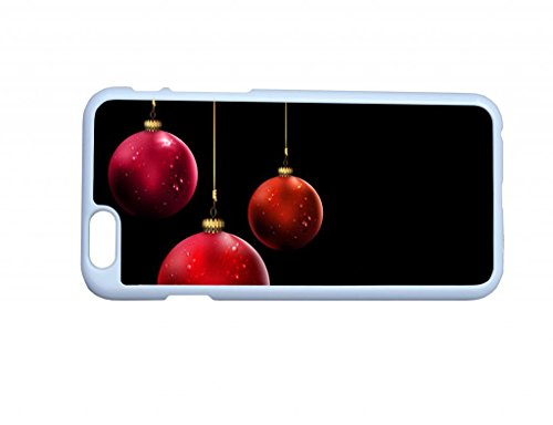 Beautiful Red Christmas Balls Hard Top Quality Plastic Cover Protector Sleeve Case For Iphone 6 4.7 Inches front-778693