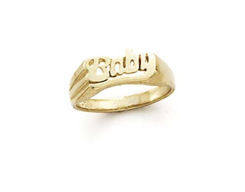 14k Baby Ring – Size 7.0 – JewelryWeb