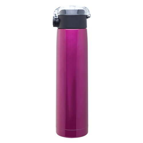 Hot Cold Double Wall Stainless Steel Thermal Water Bottle Vacuum Insulated, 24Oz. Capacity - Fuchsia front-902607