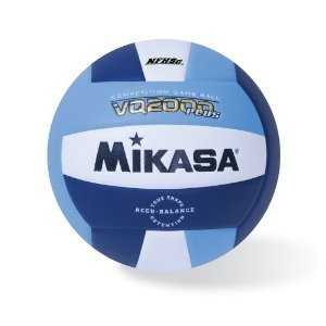 Mikasa Micro cell Volleyball, Blue/Navy/White